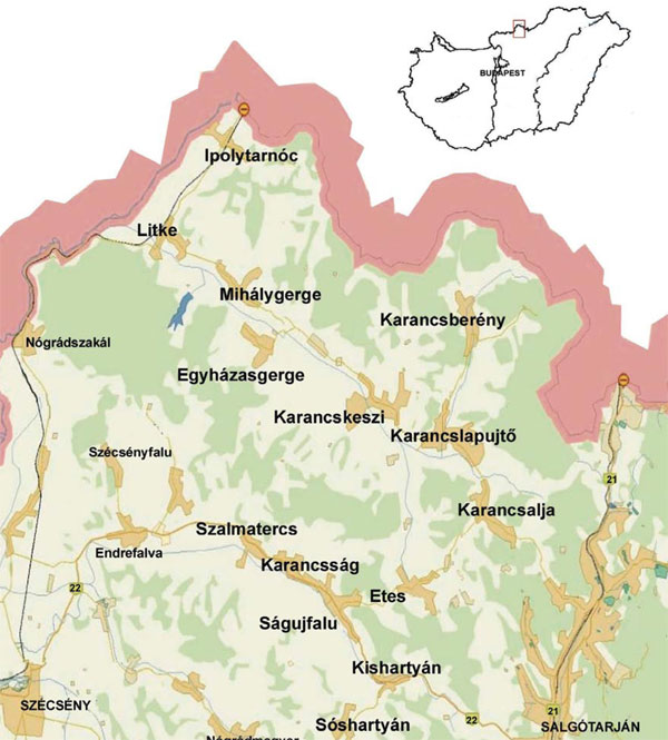 ipolytarnóc térkép Ipolytarnóci Ősmaradványok Természetvédelmi Terület   Galéria ipolytarnóc térkép